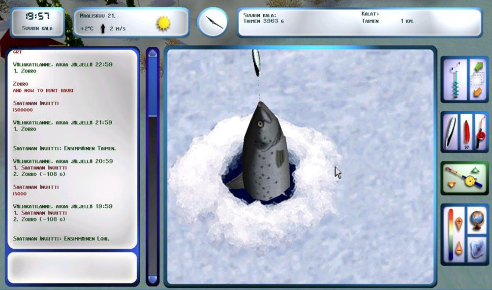 Игра Зимняя рыбалка - играть онлайн бесплатно